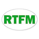 RTFM Oval Sticker (10 pk)