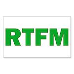 RTFM Rectangle Sticker 10 pk)