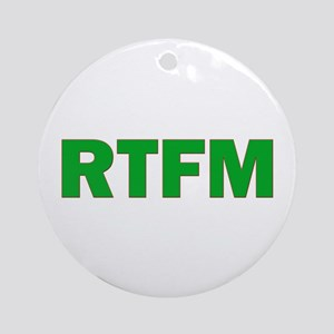 RTFM Ornament (Round)