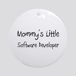 Mommy's Little Software Developer Ornament (Round)