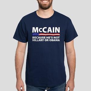 Not Hillary or Obama Dark T-Shirt
