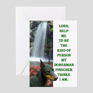 Lord Help Me -RecMag -Doberman,BlkRstCr Greeting C