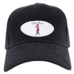 A Girl On The Go Hat With Patch Black Baseball Cap