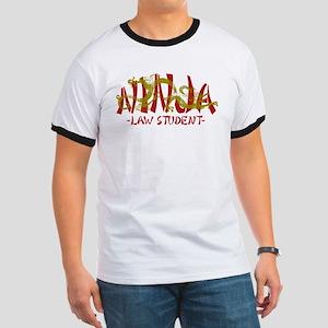 Dragon Ninja Law Student Ringer T