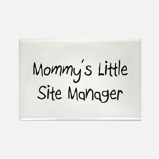 Mommy's Little Site Manager Rectangle Magnet