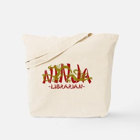 Dragon Ninja Librarian Tote Bag