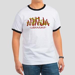 Dragon Ninja Librarian Ringer T