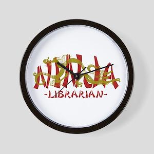 Dragon Ninja Librarian Wall Clock