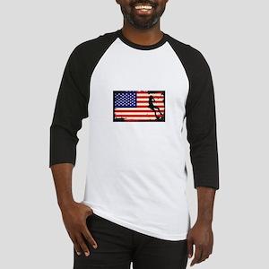 Usa American Flag Rock Climbing - Baseball Jersey