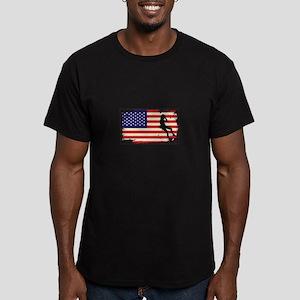 Usa American Flag Rock Climbing - Mountain T-Shirt