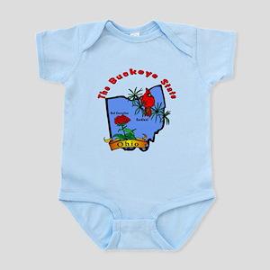 """""""Ohio Pride"""" Infant Bodysuit"""