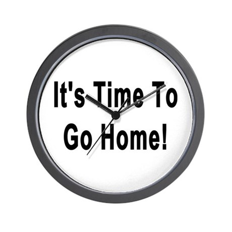it s time to go home wall clock by simplyshirts