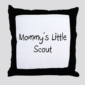 Mommy's Little Scout Throw Pillow
