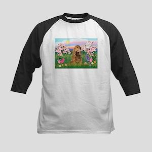 Blossoms / Cocker (brn) Kids Baseball Jersey