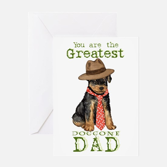 Airedale Father's Day Greeting Card