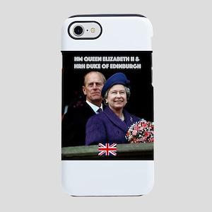 HM Queen Elizabeth and HRH P iPhone 8/7 Tough Case