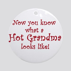 Hot Grandma Ornament (Round)