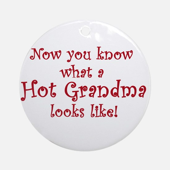 Hot Grandma Ornament (Round)