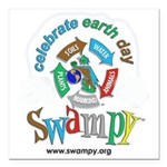 Earth Day 2018 Square Car Magnet 3