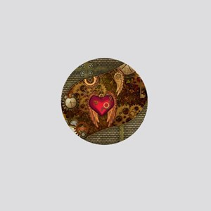 Steampunk, heart with wings, clocks and gears Mini