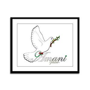 Amani - Peace - Framed Panel Print