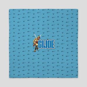 G.I. Joe Blue Pattern Queen Duvet