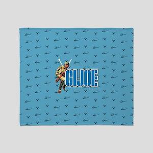 G.I. Joe Blue Pattern Throw Blanket