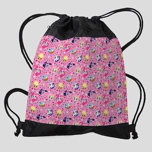 MLP Pattern Pink Drawstring Bag