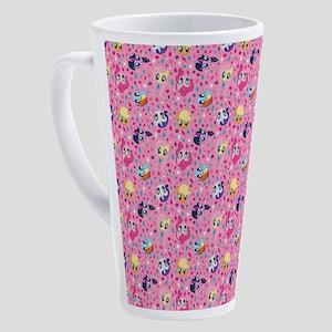 MLP Pattern Pink 17 oz Latte Mug