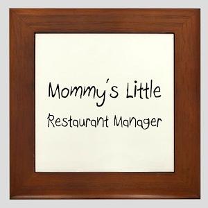 Mommy's Little Restaurant Manager Framed Tile