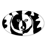 Bear Oval Sticker