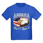 RETRO America- Love it or Leave it! Kids Dark T-Sh