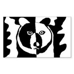 Bear Rectangle Sticker