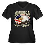 RETRO America- Love it or Leave it! Women's Plus S