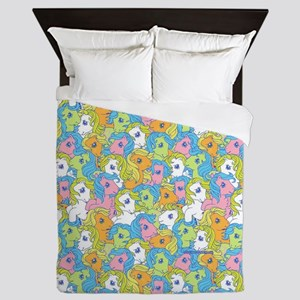 MLP Retro Pattern FB Queen Duvet