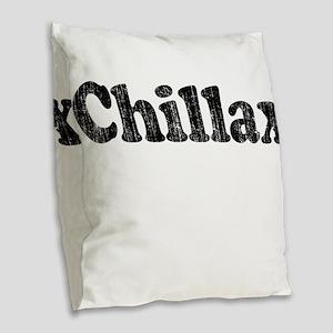 Vintage Chillax Burlap Throw Pillow