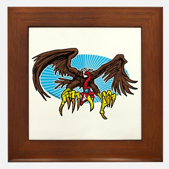 Vulture Attack Framed Tile