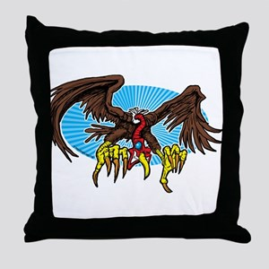 Vulture Attack Throw Pillow