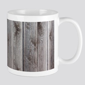 farmhouse grey barn wood Mugs