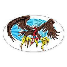 Vulture Attack Oval Sticker