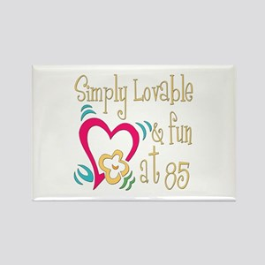 Lovable 85th Rectangle Magnet