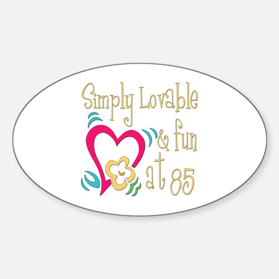 Lovable 85th Oval Decal