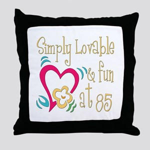 Lovable 85th Throw Pillow