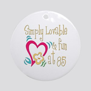 Lovable 85th Ornament (Round)