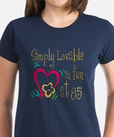 Lovable 85th Women's Dark T-Shirt