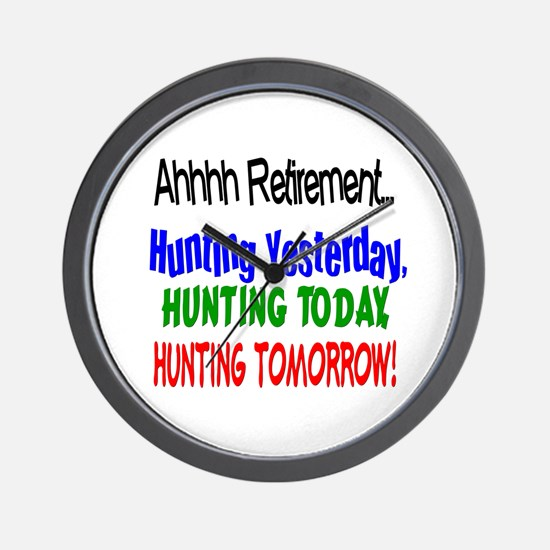 Retirement Hunting Yesterday Wall Clock