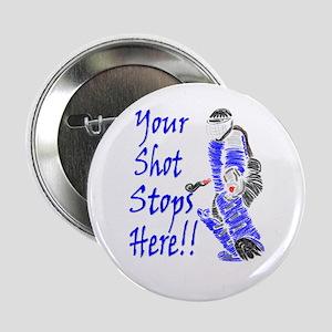 Field Hockey Goalie Button - Blue