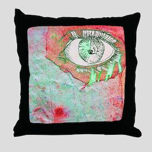 Thinking Pink Throw Pillow