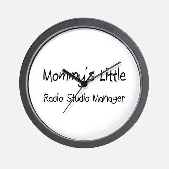 Mommy's Little Radio Studio Manager Wall Clock