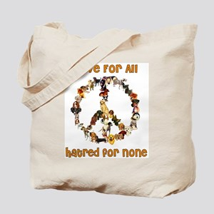 Dogs Of Peace Tote Bag